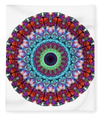 New Dawn Mandala Art - Sharon Cummings Fleece Blanket