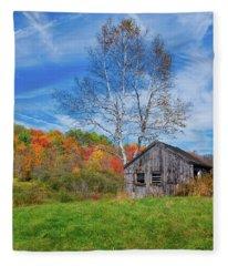 New England Fall Foliage Fleece Blanket