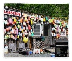 New England Lobster Shack Fleece Blanket