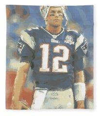 New England Patriots Tom Brady Fleece Blanket