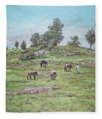 New Forest Lyndhurst Hampshire Fleece Blanket