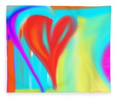 New Heart Fleece Blanket