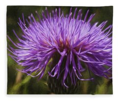 New Mexican Thistle Fleece Blanket