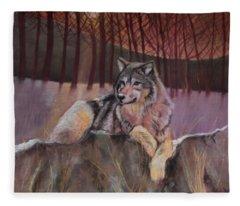 New Mon Fleece Blanket