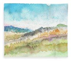 New Morning- Watercolor Art By Linda Woods Fleece Blanket
