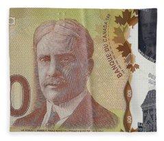 New One Hundred Canadian Dollar Bill Fleece Blanket