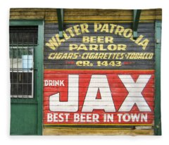New Orleans Beer Parlor Fleece Blanket