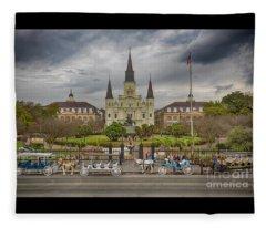 New Orleans Jackson Square Fleece Blanket