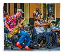 New Orleans Jazz - Paint Fleece Blanket