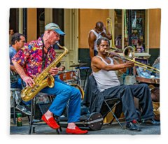 New Orleans Jazz Fleece Blanket