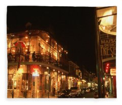 New Orleans Jazz Night Fleece Blanket