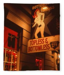 New Orleans Topless Bottomless Sexy Fleece Blanket