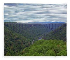 New River Bridge Fleece Blanket