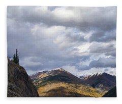 Peeking At The Peaks Fleece Blanket