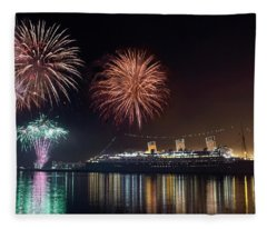 New Years With The Queen Mary Fleece Blanket