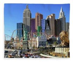 New York , New York Fleece Blanket