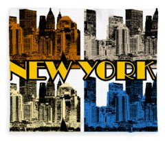New York 4 Color Fleece Blanket