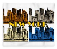 New York 4 Color Fleece Blanket