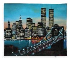 New York 910 Fleece Blanket