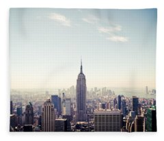 New York City - Empire State Building Panorama Fleece Blanket