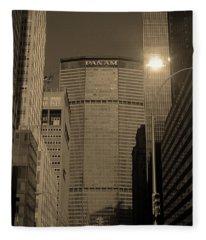 New York City 1982 Sepia Series - #7 Fleece Blanket