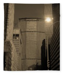 New York City 1982 Sepia Series - #7 Fleece Blanket