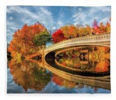 New York City Central Park Bow Bridge Fleece Blanket