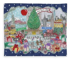 New York City Holiday Fleece Blanket