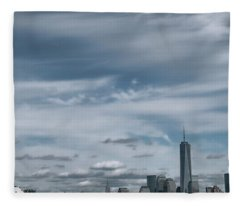 New York City Manhattan Panorama Fleece Blanket