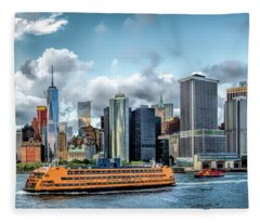 New York City Staten Island Ferry Fleece Blanket