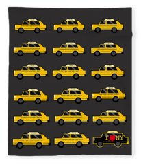 New York City Taxi Fleece Blankets