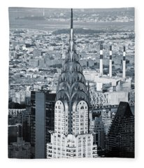 New York City - Usa - Chrysler Building Fleece Blanket