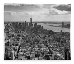 New York City - View From Empire State Building Fleece Blanket