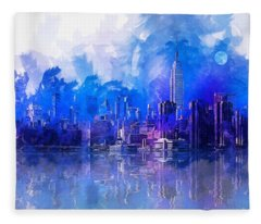 New York Fleece Blanket