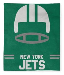 New York Jets Vintage Art Fleece Blanket