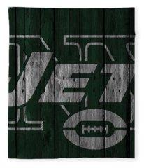 New York Jets Wood Fence Fleece Blanket