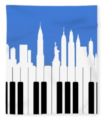 New York New York Fleece Blanket