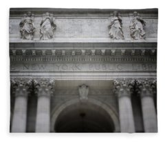 New York Public Library- Art By Linda Woods Fleece Blanket