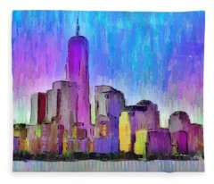 New York Skyline 2 - Da Fleece Blanket