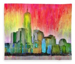 New York Skyline 3 - Da Fleece Blanket