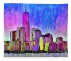New York Skyline 4 - Da Fleece Blanket