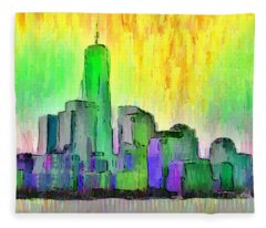 New York Skyline 5 - Da Fleece Blanket