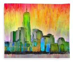 New York Skyline 6 - Da Fleece Blanket