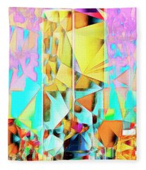 New York Skyline 911 Twin World Trade Center In Abstract Cubism 20170326 Fleece Blanket