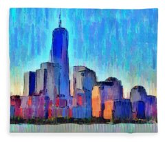 New York Skyline - Da Fleece Blanket