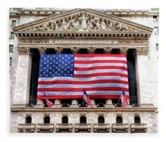 New York Stock Exchange Flag Fleece Blanket