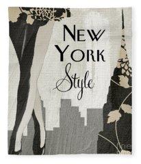 New York Style II Fleece Blanket