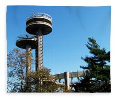 New York's 1964 World's Fair Observation Towers Fleece Blanket