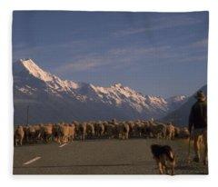 New Zealand Mt Cook Fleece Blanket