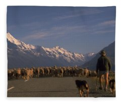 New Zealand Mt Cook Fleece Blanket